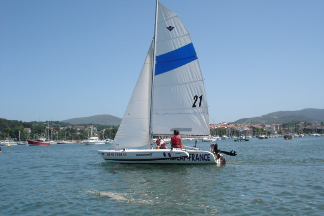 Centre nautique d'Hendaye : sortie en trimaran