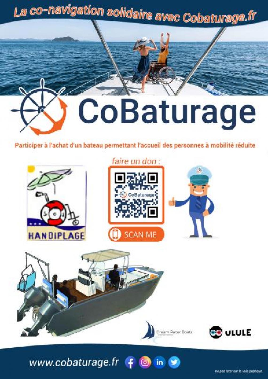 Participer à l'ahat d'un bateau permettant l'accueil des Personne à mobilité réduite