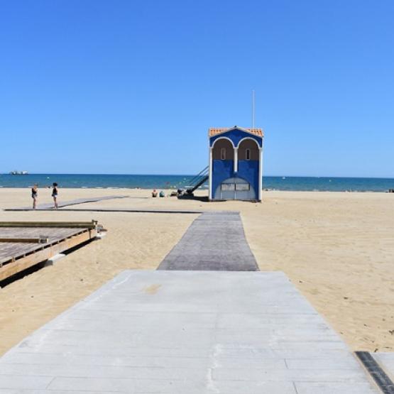 Tapis plage port la nouvelle